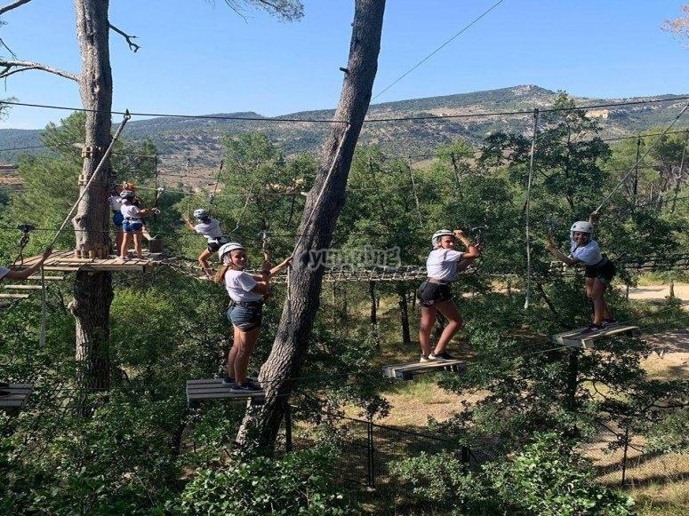Parque de obstáculos en Oropesa