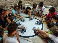 Lezione di robotica nel campo