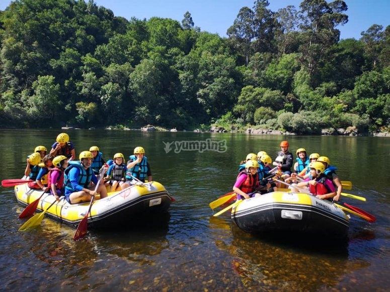 Rafting of calm waters