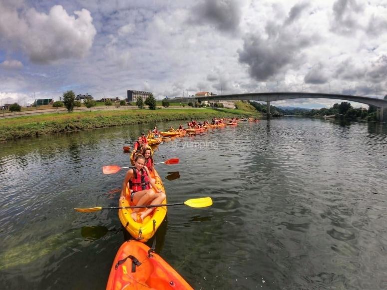 Discesa con kayak a El Bierzo