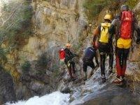 Descending ravines