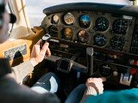 In cabina durante il volo in aereo