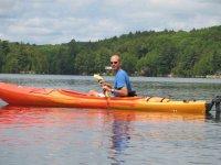 man sailing in kayak