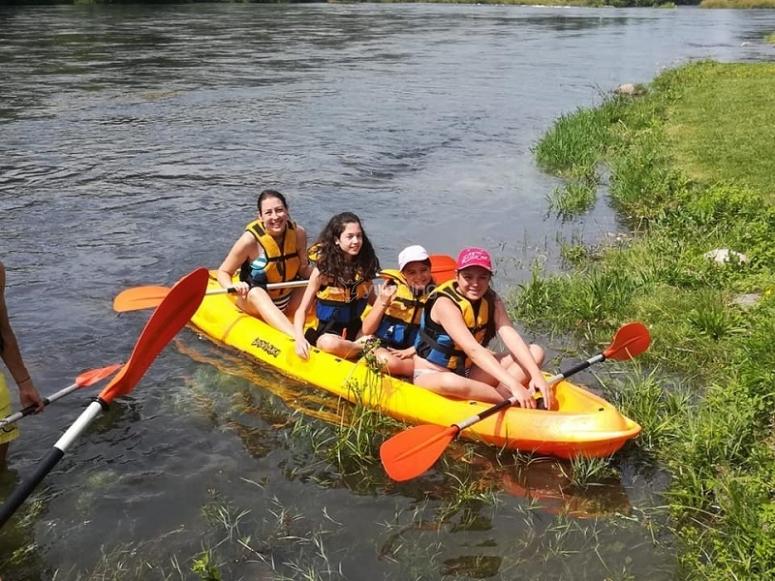 Momento de relax en el río Sil