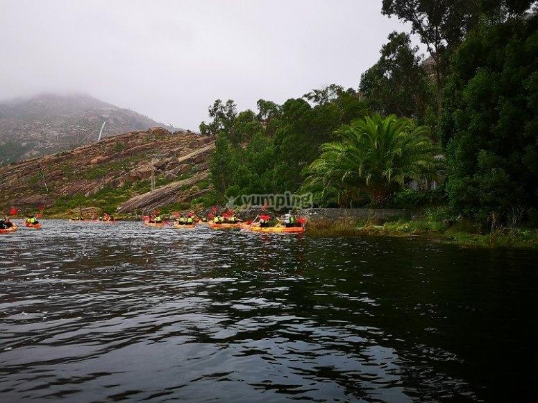 Entorno natural de la ruta en kayak doble