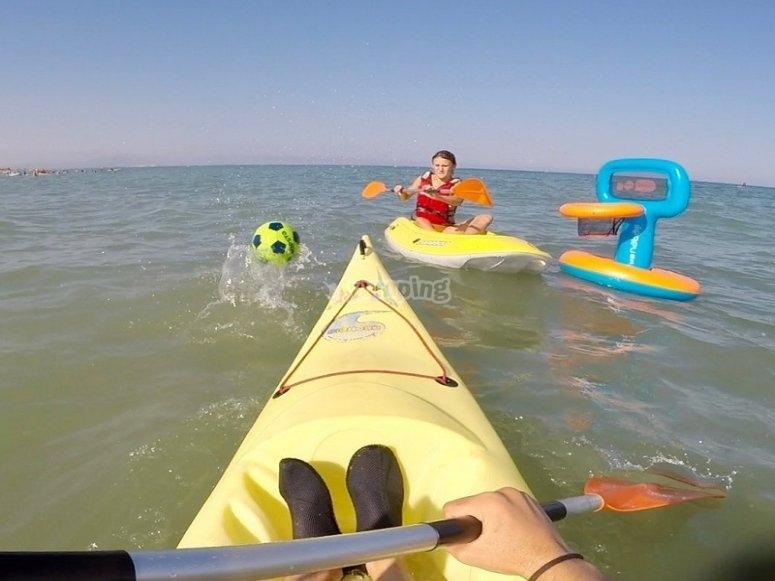 Deportes acuáticos en el mar
