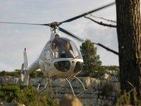 Decollo per il nostro giro in elicottero