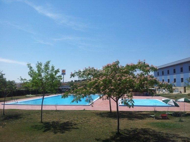 Nuestras instalaciones con piscinas