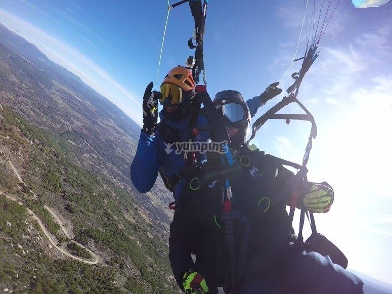 Volo in parapendio con video in Somosierra