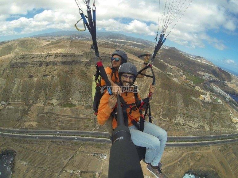 同时滑翔伞