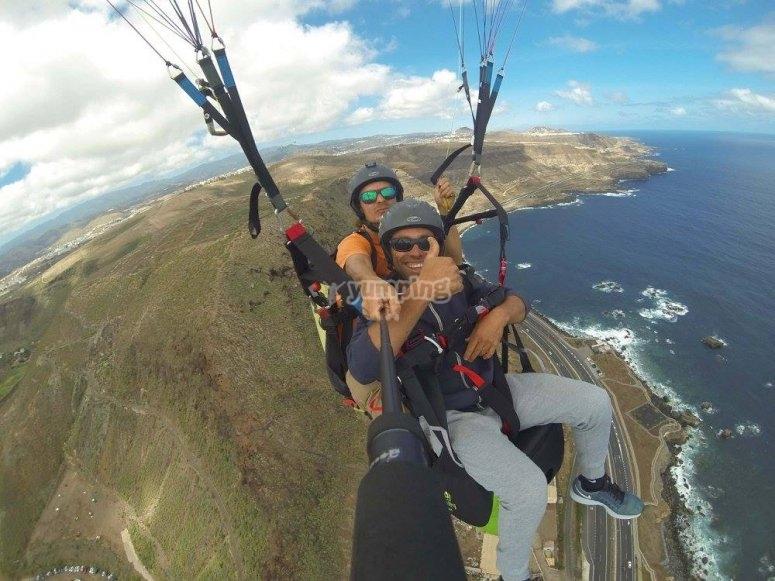 拉斯帕尔马斯滑翔伞飞行