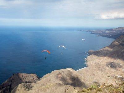 Vuelo simultáneo en parapente parejas Gran Canaria