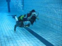 Prácticas en la piscina