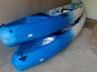 two kayak boats