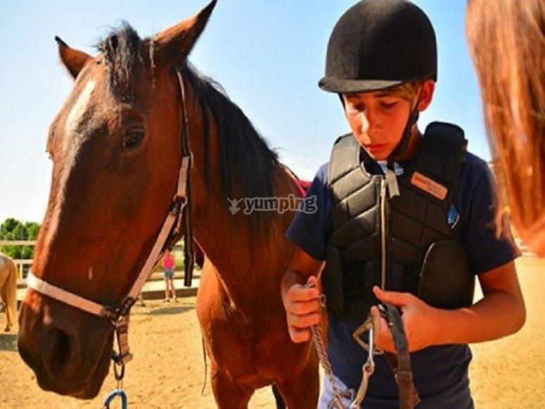 骑马班的一名学生