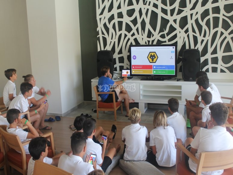 Theoretical soccer class in Mallorca