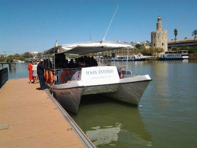 Tour in barca di 1 ora a Siviglia