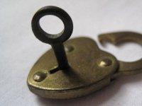 Key in the padlock