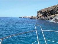 Avistando el puerto desde el barco