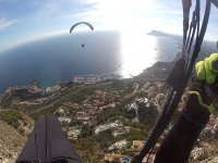 The sea from the paraglider