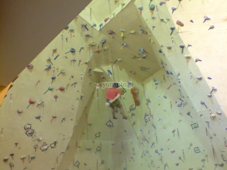 Climbing wall for all levels