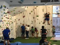 Climbing wall for children and adults