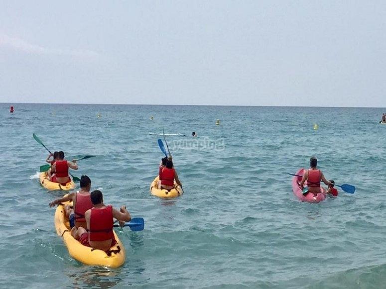 Kayak lungo la costa catalana