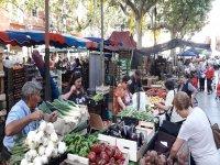 Market stalls in Vilanova
