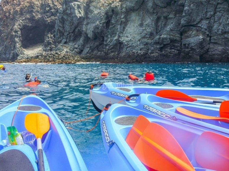 Salida en kayak biplaza desde La Lajita