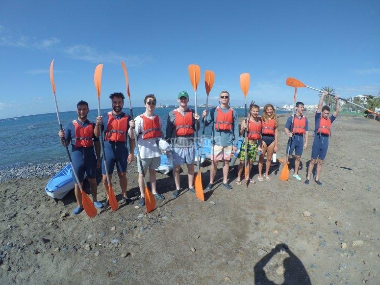 Salida en kayak con grupos La Lajita