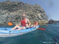 Paseo en kayak y snorkel en La Lajita