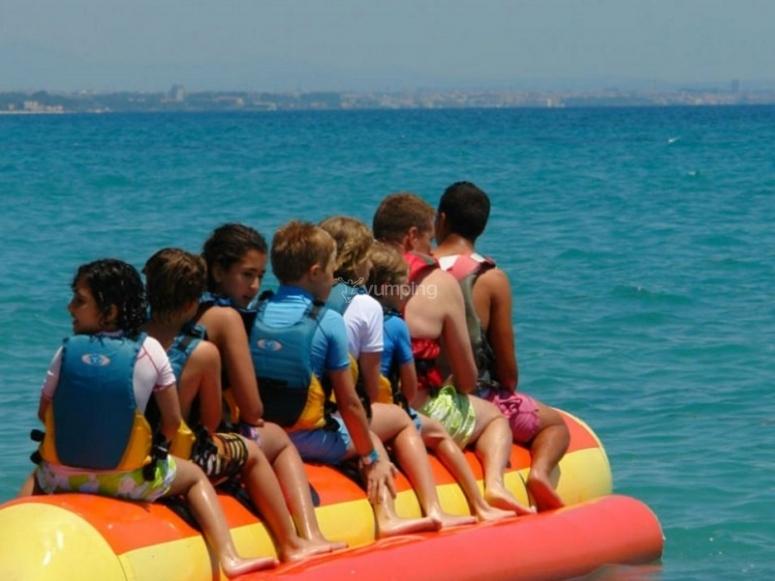Niños preparados para liberar adrenalina