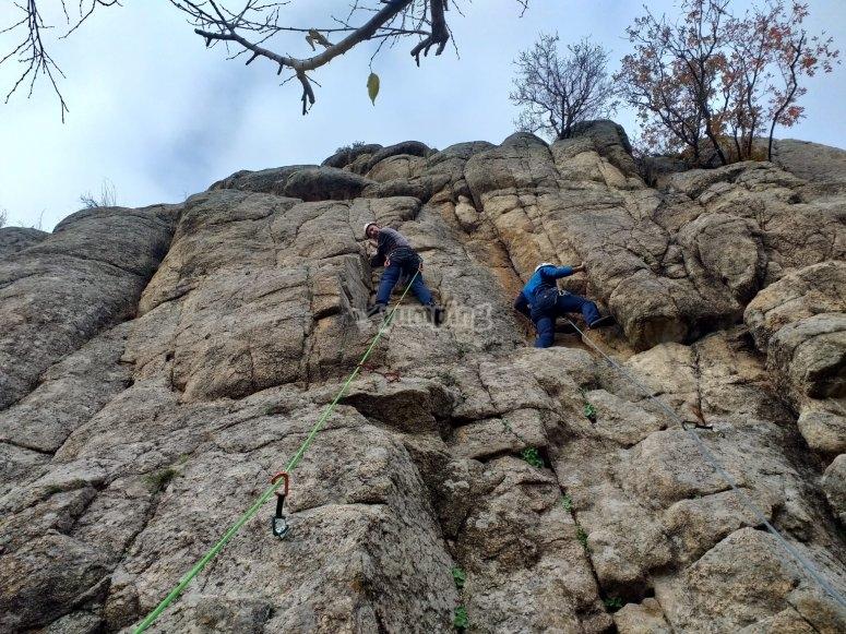 Practica escalada en Toledo