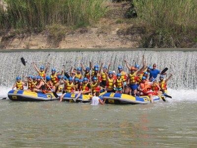 Rafting y paella para niños en Cieza 4 horas