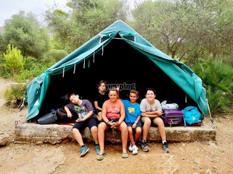在帐篷中住宿