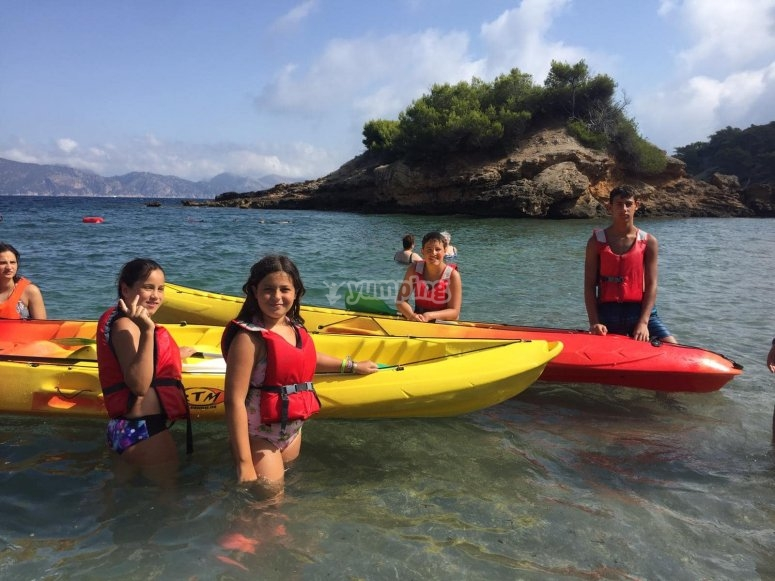 梅诺卡岛皮划艇旅行