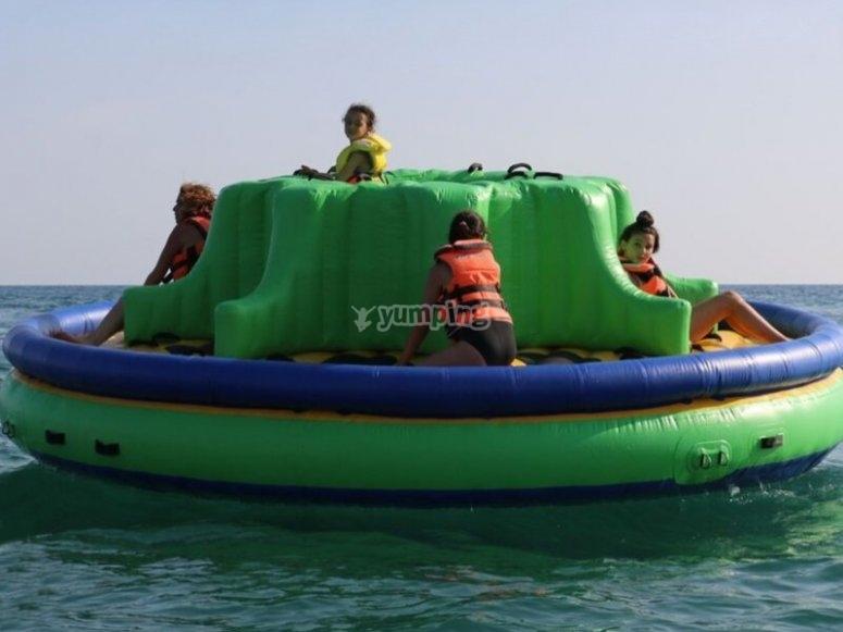 Ready to enjoy the aquatic activity