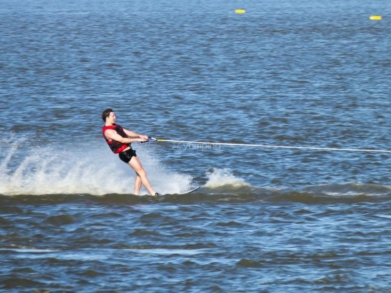 Water skiing in Salou