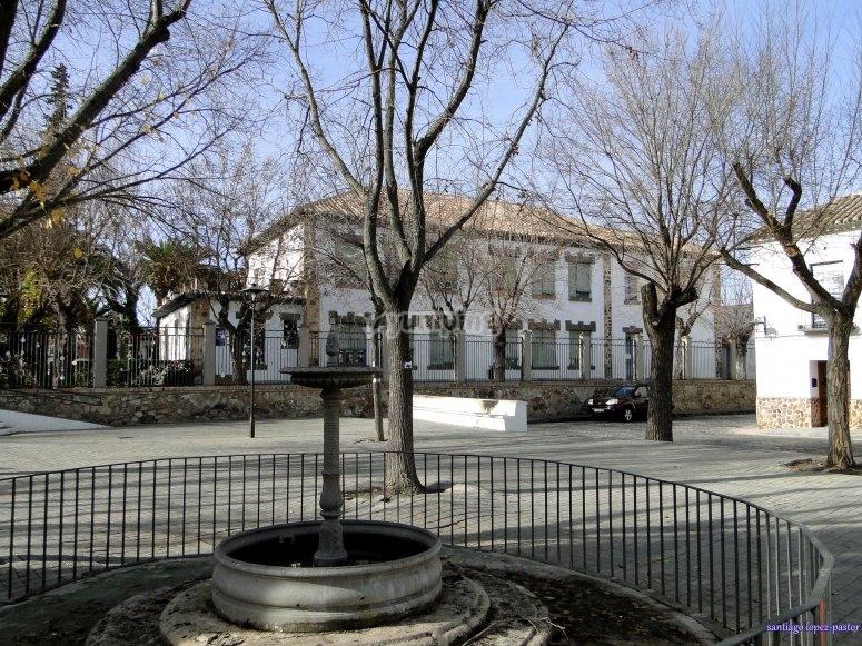 Plaza histórica en Almagro