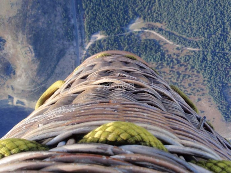Escursione aerea in mongolfiera Iturrieta