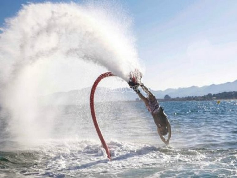 Feeling the thrill of the flyboard