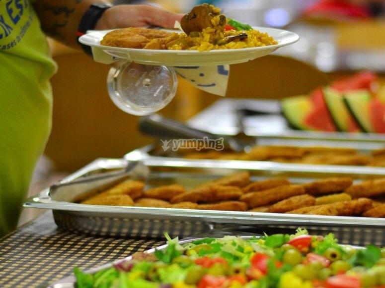 Dieta equilibrada durante el camp