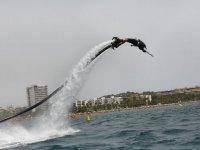Descending on the flyboard