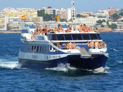 Paseo en barco a Cala Calafat con comida 8h