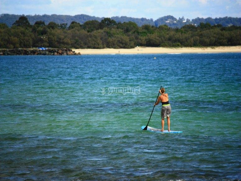 Salida de paddle surf en Gijón