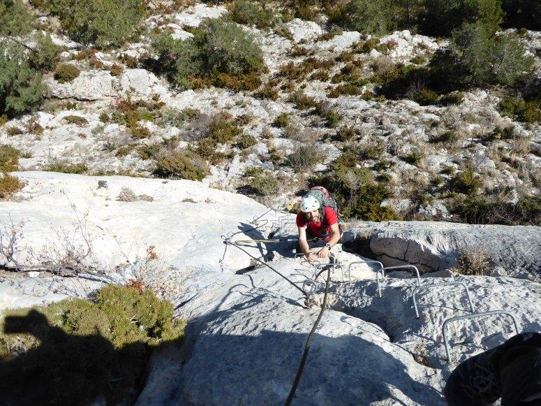 Ascenso por vía en Roques d'Empalomar