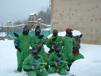 Paintball sobre la nieve