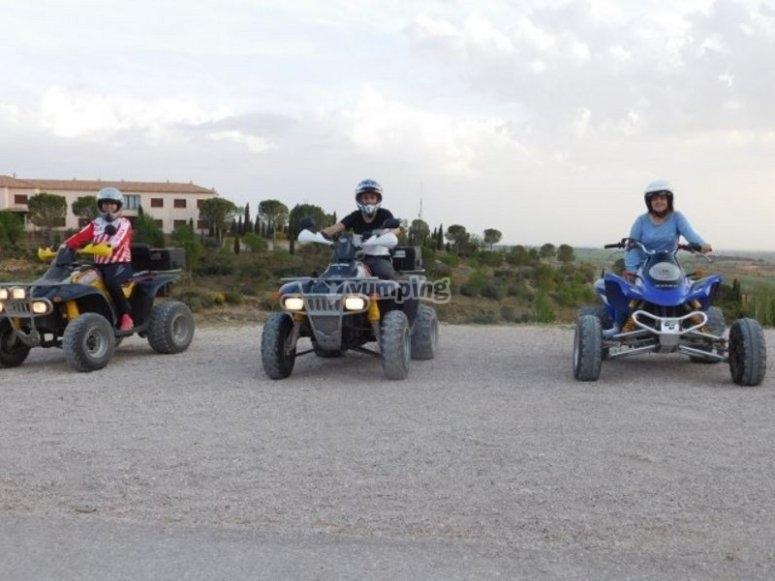 The team in their quads