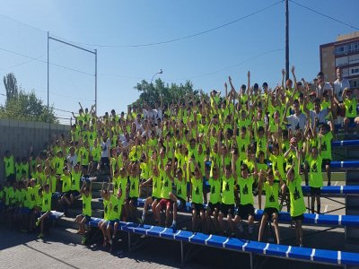 夏季在Moratalaz进行的多运动城市校园