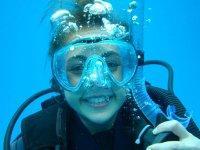 Smile underwater